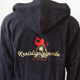 Kreisligalegende - Bademantel schwarz
