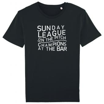 Sunday League on the Pitch Champions at the Bar shirt black